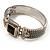 Two Tone Mesh Hinged Bangle Bracelet - view 11