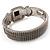 Two Tone Mesh Hinged Bangle Bracelet - view 8