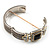 Two Tone Mesh Hinged Bangle Bracelet - view 7
