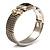 Two Tone Mesh Hinged Bangle Bracelet - view 12