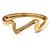 Gold Plated Crystal 'Zig Zag' Hinged Bangle Bracelet