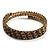 Burn Gold Amber Coloured Crystal Multistrand Flex Bangle Bracelet - view 8