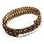 Burn Gold Amber Coloured Crystal Multistrand Flex Bangle Bracelet - view 9