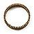 Burn Gold Amber Coloured Crystal Multistrand Flex Bangle Bracelet - view 10