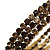 Burn Gold Amber Coloured Crystal Multistrand Flex Bangle Bracelet - view 4