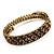 Burn Gold Amber Coloured Crystal Multistrand Flex Bangle Bracelet - view 12