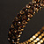 Burn Gold Amber Coloured Crystal Multistrand Flex Bangle Bracelet - view 14
