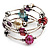 Silver-Tone Beaded Multistrand Flex Bracelet (Multicoloured) - view 7
