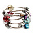 Silver-Tone Beaded Multistrand Flex Bracelet (Multicoloured) - view 5