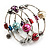 Silver-Tone Beaded Multistrand Flex Bracelet (Multicoloured) - view 2