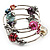 Silver-Tone Beaded Multistrand Flex Bracelet (Multicoloured) - view 6