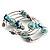 Silver-Tone Beaded Multistrand Flex Bracelet (Light Blue) - view 5