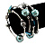 Silver-Tone Beaded Multistrand Flex Bracelet (Light Blue) - view 2
