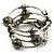 Silver-Tone Beaded Multistrand Flex Bracelet (Olive Green) - view 3