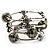 Silver-Tone Beaded Multistrand Flex Bracelet (Olive Green) - view 7
