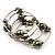 Silver-Tone Beaded Multistrand Flex Bracelet (Olive Green) - view 4