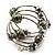 Silver-Tone Beaded Multistrand Flex Bracelet (Olive Green) - view 8