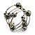 Silver-Tone Beaded Multistrand Flex Bracelet (Olive Green) - view 6