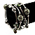 Silver-Tone Beaded Multistrand Flex Bracelet (Olive Green) - view 2