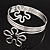 Rhodium Plated 'Flower' Upper Arm Bracelet Armlet - view 13