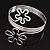 Rhodium Plated 'Flower' Upper Arm Bracelet Armlet - view 14
