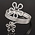 Rhodium Plated 'Flower' Upper Arm Bracelet Armlet - view 15