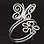 Rhodium Plated 'Butterfly & Flower' Upper Arm Bracelet Armlet