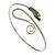 Rhodium Plated Snake Upper Arm Bracelet Armlet - Adjustable - view 2