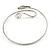 Rhodium Plated Snake Upper Arm Bracelet Armlet - Adjustable - view 3