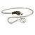 Rhodium Plated Snake Upper Arm Bracelet Armlet - Adjustable - view 4