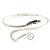 Rhodium Plated Snake Upper Arm Bracelet Armlet - Adjustable - view 9