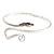 Rhodium Plated Snake Upper Arm Bracelet Armlet - Adjustable - view 11
