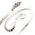 Rhodium Plated Snake Upper Arm Bracelet Armlet - Adjustable - view 8