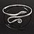 Rhodium Plated Snake Upper Arm Bracelet Armlet - Adjustable - view 7