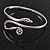 Rhodium Plated Snake Upper Arm Bracelet Armlet - Adjustable - view 12