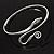 Rhodium Plated Snake Upper Arm Bracelet Armlet - Adjustable - view 10