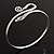 Rhodium Plated Snake Upper Arm Bracelet Armlet - Adjustable - view 6