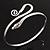 Rhodium Plated Snake Upper Arm Bracelet Armlet - Adjustable - view 5