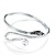 Rhodium Plated Snake Upper Arm Bracelet Armlet - Adjustable - view 13
