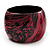 Oversized Chunky Wide Wood Bangle (Black & Pink)