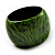 Oversized Chunky Wide Wood Bangle (Black & Grass Green) - view 4