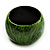 Oversized Chunky Wide Wood Bangle (Black & Grass Green) - view 9