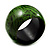 Oversized Chunky Wide Wood Bangle (Black & Grass Green) - view 2