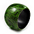 Oversized Chunky Wide Wood Bangle (Black & Grass Green) - view 6