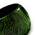 Oversized Chunky Wide Wood Bangle (Black & Grass Green) - view 3