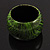 Oversized Chunky Wide Wood Bangle (Black & Grass Green) - view 10