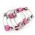 Silver-Tone Beaded Multistrand Flex Bracelet (Fuchsia Pink) - view 7