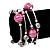 Silver-Tone Beaded Multistrand Flex Bracelet (Fuchsia Pink) - view 3