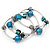 Silver-Tone Beaded Multistrand Flex Bracelet (Dark Teal Blue) - view 7