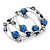 Silver-Tone Beaded Multistrand Flex Bracelet (Navy Blue) - view 7